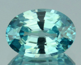 1.61Ct Natural Sky Blue Zircon Oval Cambodia