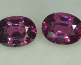 2.95 Cts Pairs Of Grape Garnet / Purple Garnet Oval Shapes From Mozambique