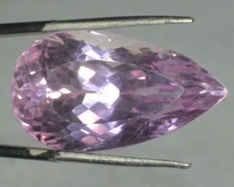 40.65 Cts Pear Shape Pink Kunzite From Afghanistan