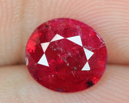 1.64 CTS UNHEATED NATURAL PINKISH RED RUBY LOOSE GEMSTONE