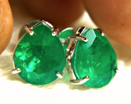 20.0 Carat Zambian Emerald Doublet Earrings - Gorgeous
