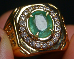 56.15 CT Beautiful Zambian Emerald Ring Jewelry