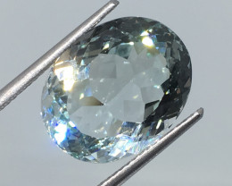 13.67 Carat VVS Topaz Icy Blue  Unheated Stunning Flash and Color!