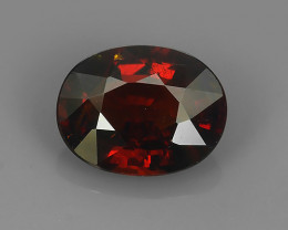 2.30 CTS OUTSTANDING! OVAL FACET BLOOD RED NATURAL SPESSARTITE GARNET NR!