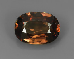 4.10Ct Wonderful~Transparent Natural Oval Shape Brown~Pink Zircon Cambodia!