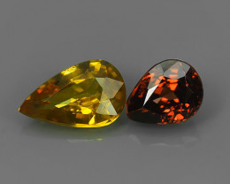 4.10 CtS ATTRACTIVE ULTRA RARE NATURAL FANCY ZIRCON PEAR EXECLLENT!!