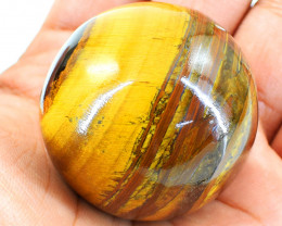 Genuine 640.00 Cts Golden Tiger Eye Healing Sphere