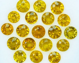 11.80Ct Natural Yellow Sapphire Round 5mm Parcel