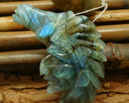 Natural labradorite carved african tribe and horse pendant jewelry (G0163)