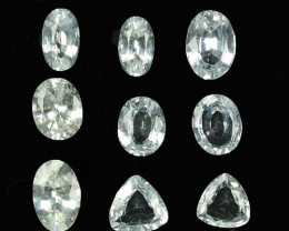 3.37Ct Natural White Sapphire Fancy Shapes Parcel