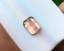 2.05 Ct Natural Bi Color VVS Tourmaline Ring Size Gemstone