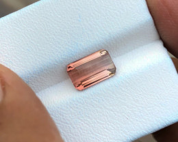 1.65 Ct Natural Orange VVS Tourmaline Ring Size Gemstone