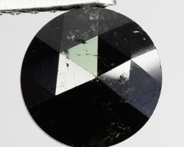 0.99 Cts Natural Black Diamond Round (Rose Cut) Africa