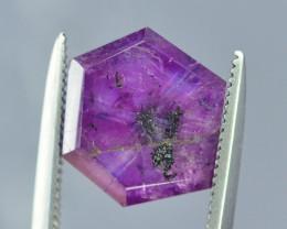 Rarest 3.65 ct Trapiche Pink Kashmir Sapphire