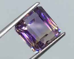 6.16 Carat VVS Ametrine Untreated Octagon Incredible Clarity and Quality!