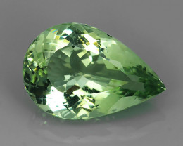 15.15 CTS ALLURING TOP GREEN PARTY COLOR EXECLLENT PEAR AMETHIYST BRAZIL!!