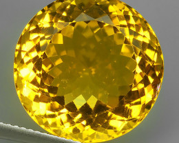 18.10 CTS DAZZLING TOP NATURAL GOLDEN YELLOW CITRINE~17.25~MM BRAZIL NR!!!