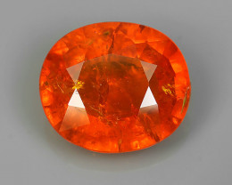 9.70 CTS BRILLIANT! 100%NATURAL HOT ORANGE MANDARIN SPESSARTITE GARNET AAA
