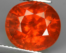 15.45 CTS MARVELOUS RARE NATURAL TOP FANTA-SPESSARITE OVAL-CUT DAZZLING  NR