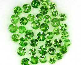 2.16 Cts Natural Green Tsavorite Garnet 2.2-2.0 mm Round Parcel 44Pcs
