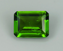 1.55 CTS NATURAL UNHEAT GENUINE LUSTROUS  CHROME DIOPSIDE OCTAGON GEM NR!!