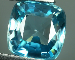 2.05 CTS DAZZLING NATURAL RARE TOP LUSTER INTENSE BLUE ZIRCON