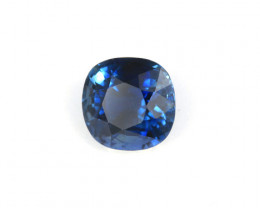 CERTIFIED 2.17ct INDIGO BLUE SAPPHIRE ANTIQUE CUSHION CUT