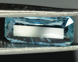 0.90 CTS NATURAL AQUAMARINE Radiant Shape From Africa