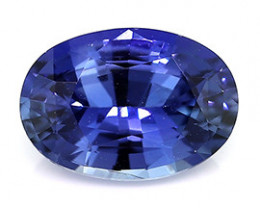 0.85 ct Royal Navy Blue Oval Blue Sapphire