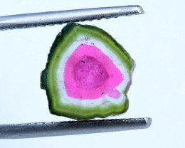 7.10 cts Watermelon Tourmaline Slice