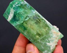 158 Gram Green Spodumene with Albite Specimen