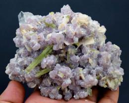 374 Gram Tourmaline crystals with Topaz on Lepidolite