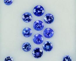 3.78Ct Natural AAA Purple Tanzanite Round Parcel