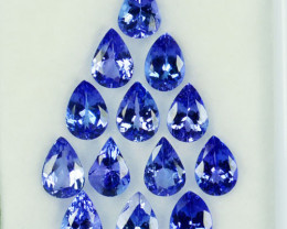 9.84Ct Natural AAA Purple Blue Tanzanite Pear 7 X 5mm Parcel