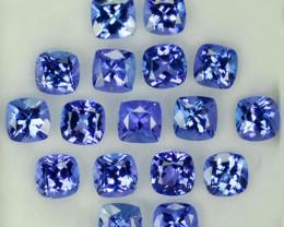 11.42Ct Natural Purple Blue Tanzanite Cushion 5mm Parcel