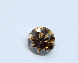 0.92ct Fancy Orangish Brown Diamond , 100% Natural Untreated