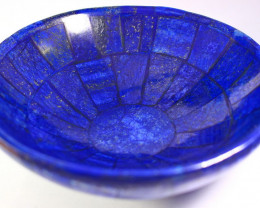 1671 CT Unheated ~ Natural Blue  color Lapis Carved Bowl Special Shape