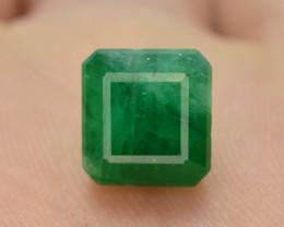 4.50 ct Natural Vivid Green Color Emerald~Swat