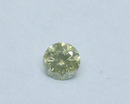 0.22ct Grayish greenish Yellow   Diamond , 100% Natural Untreated