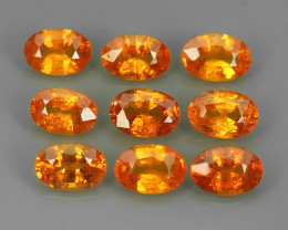 5.45 Cts_Oval Cut_Marvelous_Electric Orange Red_Africa_Sizzling_Spessarite_