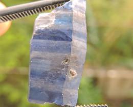 12.15ct SAPPHIRE CRYSTAL FROM SRI LANKA BLUE STRIPES