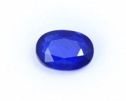 CERTIFIED 1.95ct. BLUE  SAPPHIRE OVAL