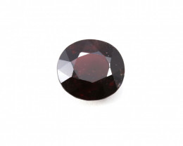 CERTIFIED 7.41ct. RED BURMESE SPINEL OVAL CUT