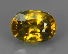 2.40 Cts Wonderful~Transparent Natural Oval Fancy Rare Yellow Zircon!!