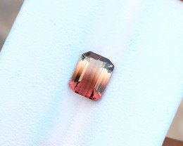 1.75 Ct Natural Bi Color VVS Transparent Tourmaline Ring Size Gem