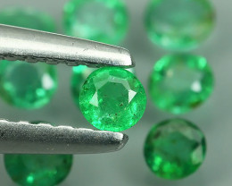 ~EXCELLENT~NATURAL~EMERALD~ROUND~NICE QUALITY GOOD COLOR!!!