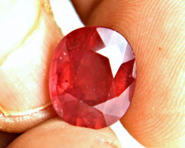 9.80 Carat Fiery Red Ruby - Gorgeous