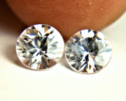 1.77 Carat White Southeast Asian VS Zircons - Gorgeous
