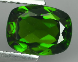 1.55 CTS ATTRACTIVE ULTRA RARE NATURAL CHROME DIOPSIDE OCTAGON RUSSIA!!