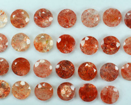 117.35Ct Natural Andesine Sunstone Faceted Round 10mm Parcel